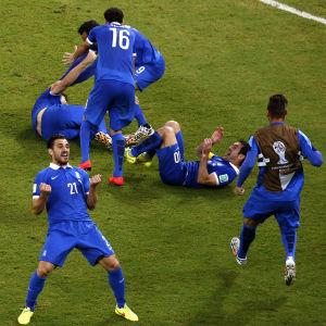 Grekland firar mot Costa Rica under VM 2014