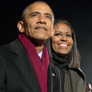 Barack och Michelle Obama.