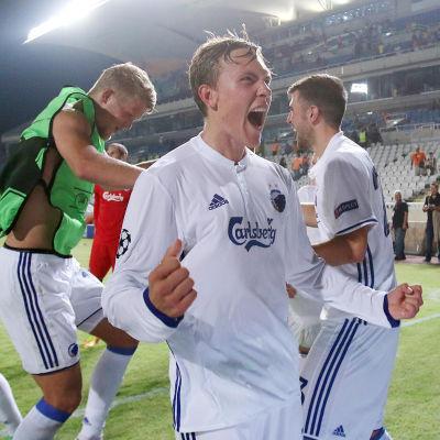FC Köpenhamn firar avancemang