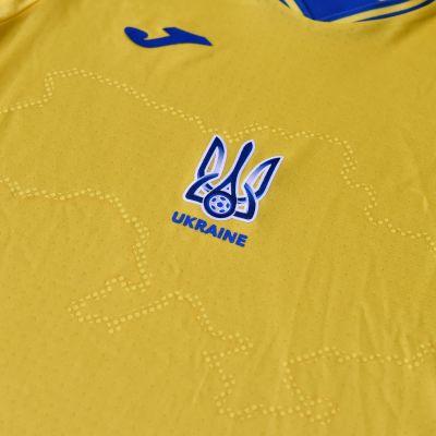 Tröjan som Ukraina ska använda i fotbolls-EM 2021.