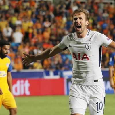 Harry Kane gjorde Tottenhams alla mål mot Apoel i Champions League.