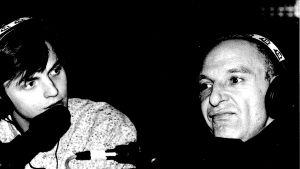 Måns Strömberg och Remu Aaltonen på svartvitt foto.