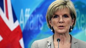 Australiens utrikesminister julie bishop