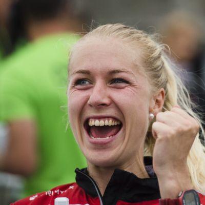 Maja Alm orienterar för Danmark.