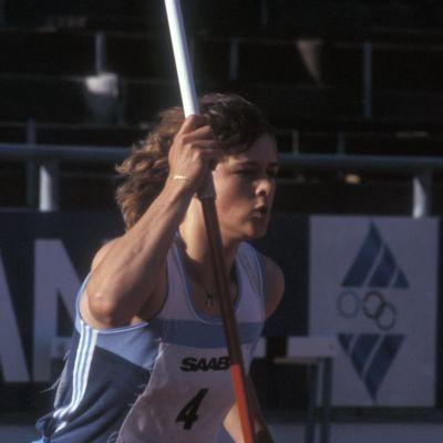 Keihäänheittäjä Tiina Lillak 1983
