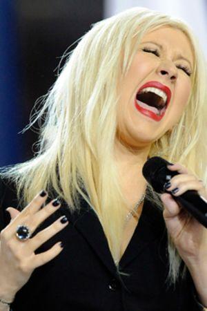 Christina Aguilera på Super Bowl