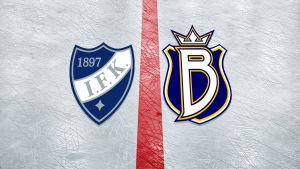 HIFK:s och Blues logotyper.