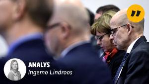 Matti Hetemäki under presentationen av Finansministeriets tjänstemannainlägg.