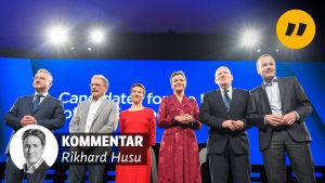 Kandidater i EU-valets valdebatt