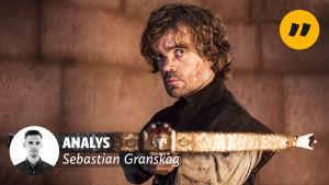 Analysstämpel på bild av Game of Thrones-karaktären Tyrion Lannister.