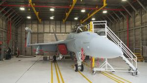 Super Hornet Grawler hangaarissa.