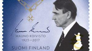 Frimärke med Mauno Koivisto