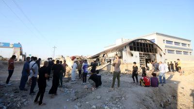 En utbränd sjukhusavdelning vid sjukhuset i Nasiriyah i södra Irak.