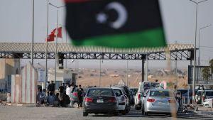 Gränsstation mellan Libyen och Tunisien