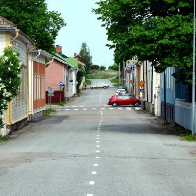 Gatuvy i Kristinestad