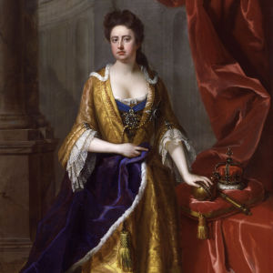Drottning Anna av England, målning av Mikael Dahl ca 1705.