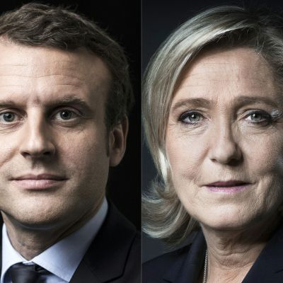 Franska presidentvalskandidaterna Emmanuel Macron och Marine Le Pen.