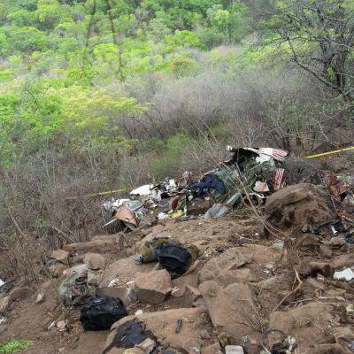 Olycksplatsen i Zimbabwe.