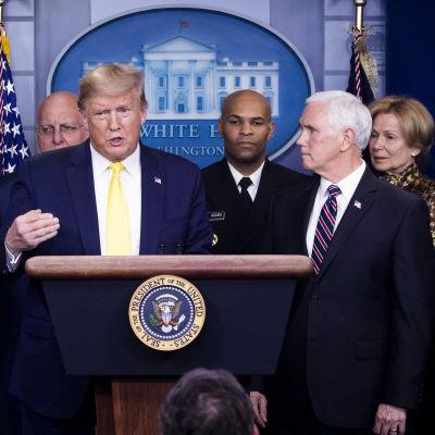 Donald Trump puhui lehdistötilaisuudessa