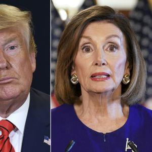 USA:s president Donald Trump och representanthusets talman Nancy Pelosi.