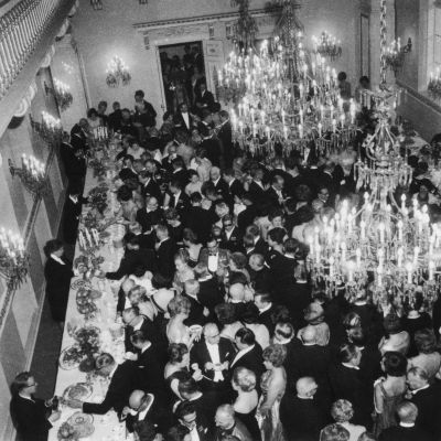 Fest på presidentens slott 1964.