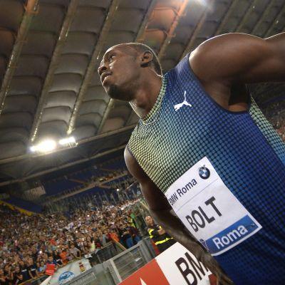 Usain Bolt taipui Justin Gatlinille Rooman Timanttiliigan osakilpailussa / 6.6.2013