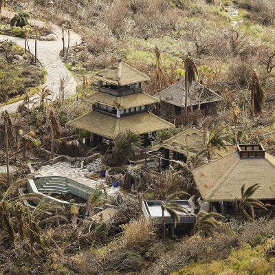 Orkanen Maria drog fram över Jungfruöarna.