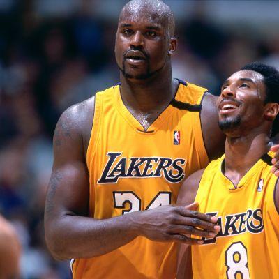 Kuvassa Lakersin mestaruuksien voimakaksikko Shaquille O'Neal ja Kobe Bryant