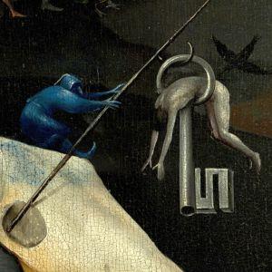 Yksityiskohta Boschin teoksesta Maallisten ilojen puutarha