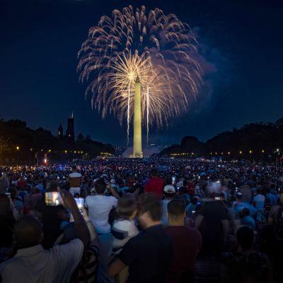 Fyrverkerier i Washington D.C. under 4.7.2021.
