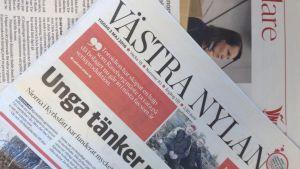 Tidningen Västra Nyland.