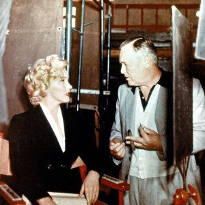 Henry Hathaway And Marilyn Monroe elokuvasta Niagara.