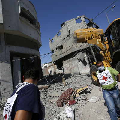 Röda korsets hjälparbetare i Gaza under den senaste Israel-Palestina konflikten
