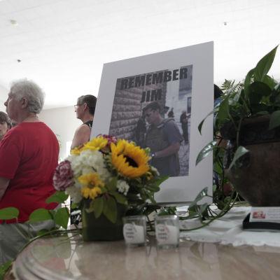 Minnessermoni för den dödade amerikanska journalisten James Foley.
