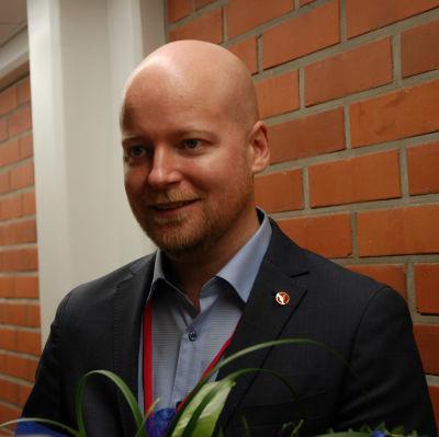 Jussi Saramo, första viceordförande för Vänsterfölrbundet