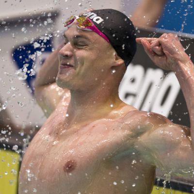 Ari-Pekka Liukkonen tuuletti ennätystään.