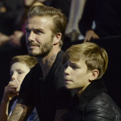 David Beckham i tennispubliken.