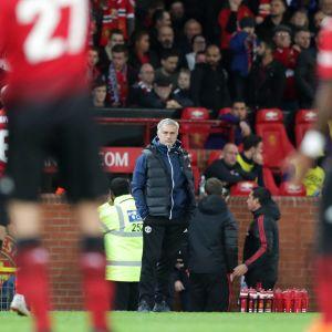 José Mourinho vid sidlinjen.