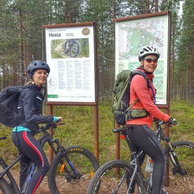 Hossan kansallispuistoa suosivat erityisesti maastopyöräilijät.