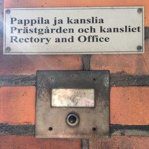 Dörrklockan vid Sankta Maria kyrkan i Helsingfors