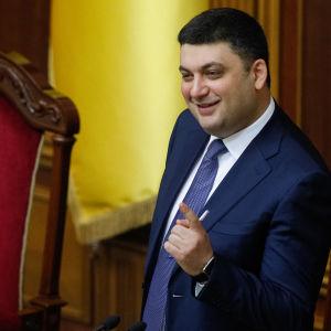 Ukrainas nye premiärminister Volodymyr Hrojsman en dag före sin utnämning