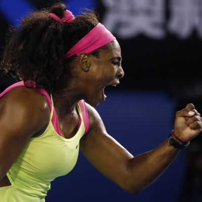 Serena Williams vann Australian Open.