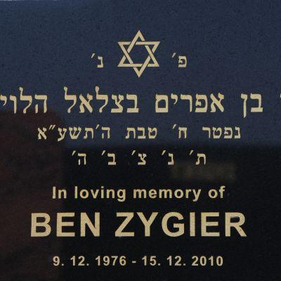 Fånge X var Ben Zygier, en australiensare som flyttat till Israel. Hans gravsten i Melbourne