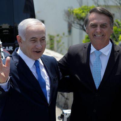 Benjamin Netnayahu och Jair Bolsonaro