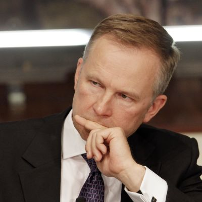 Chefen för den lettiska centralbanken Ilmārs Rimšēvičs i närbild.