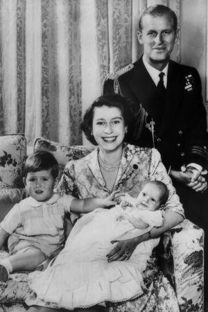 Den brittiska kungafamiljen 1951.