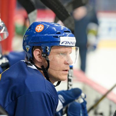 Mikko Koivu på de finska lejonens öppna träningar i Helsingfors.