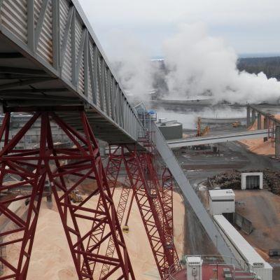 Bioetanolfabriken byggs på UPM:s och Alholmens Krafts industriområde vid Alholmen