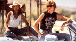 Susan Sarandon och Geena Davis i filmen Thelma & Louise 1991.