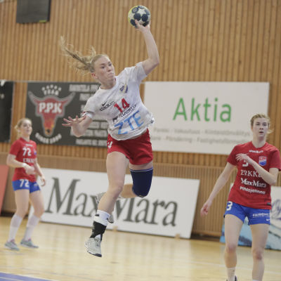 HIFK:s Kathlen Ax under handbollsfinalerna 2018.